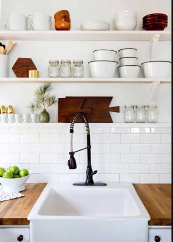 Repisas prácticas y bonitas para cocinas