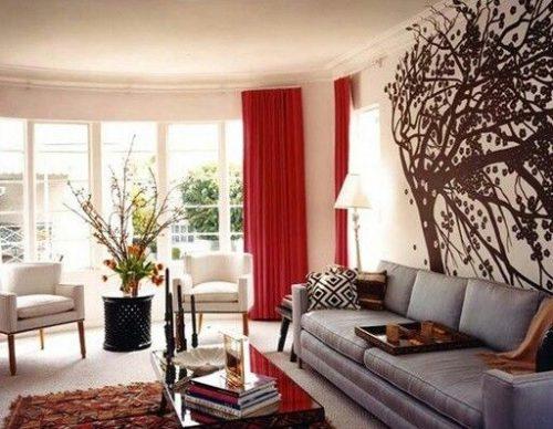 Cómo combinar las cortinas para salas