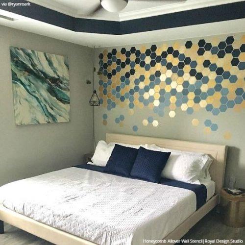 Ideas para decorar la pared detrás de la cama