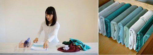 Como ordenar por Categorías-Doblado vertical de ropas