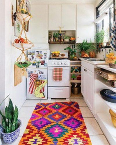 Ideas de Cocinas coloridas y Hermosas que te Encantarán