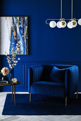 Salones pintados en azul