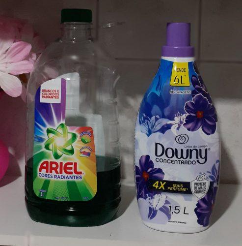 Te comparto algunas fotos de productos que uso para limpiar y lavar las toallas.