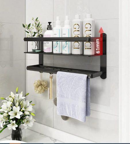 Maravillosos estantes de baños con barra para toalla