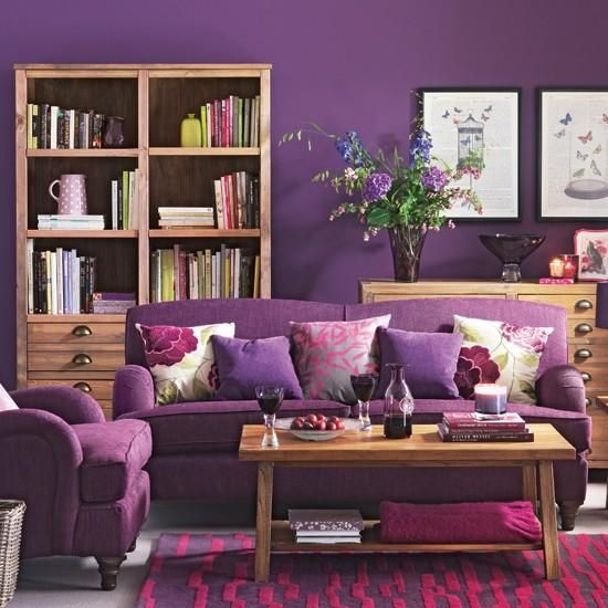 El color malva en la decoración de interiores
